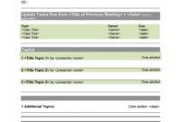 Top Simple Meeting Agenda Template