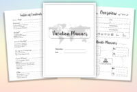 Top Vacation Itinerary Planner Template