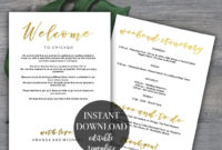 Top Wedding Welcome Itinerary Template